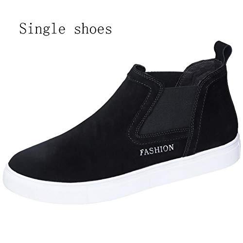 Xue Herren-Plattform Schuhe Frühling/Herbst Comfort Sneakers Wanderschuhe, Laufschuhe, Flache Loafer, Komfort High-Top-Sneakers, Lässig/Reisen, Abgerundete Zehe,B,45
