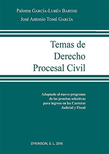 Temas de Derecho Procesal Civil. por José Antonio Tomé García
