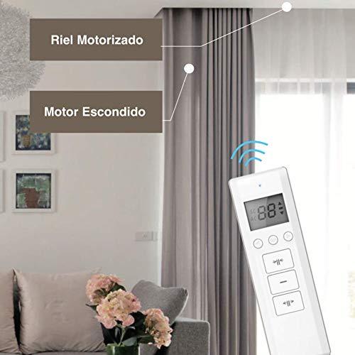 Binari a Curva. con Telecomando Motore Wifi compatibile con Alexa Google Home da 1 a 4 Metri Smartphone App ABALON Tende Motorizzate Binario motorizzato per Tende Smart Home Binario Elettrico