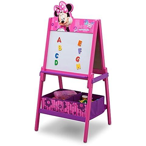 Delta Children Minnie Mouse Cavalletto, Legno, Viola, 55.88x55.88x115.69 cm