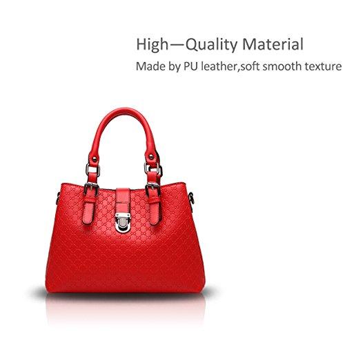 Nicole&Doris Borsa a tracolla nuove donne / signore casuale borsa a tracolla tracolla borsa borsa per le donne(Rose) Red