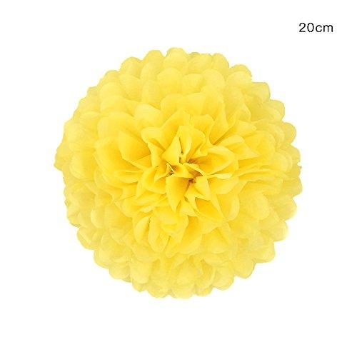 be Kugeln, Papier Blumen Kugel für Hochzeit Geburtstag Party Outdoor Dekoration Tisch und Wand Dekoration Premium Seidenpapier Pom Pom Blumen (Gelb) ()