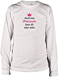 TEXLAB - Auch eine Prinzessin haut dir eine rein - Langarm T-Shirt