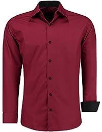 J S FASHION Herren-Hemd – Slim-Fit – Bügelleicht – Für Anzug, Business 21e6666812