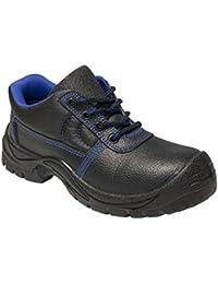 KERMEN - Zapatos de trabajo S3 SRC para hombre Calzado de seguridad Bota baja ligera Antideslizante Botines de protección también como zapato