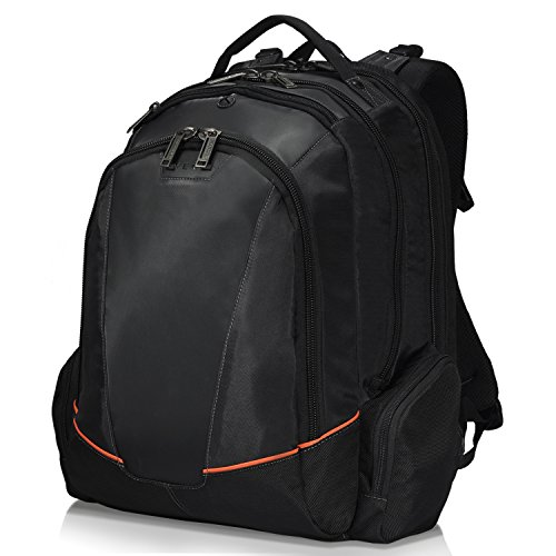 Everki Flight – Laptop Rucksack für Notebooks bis 16 Zoll (40,6 cm) mit durchdachtem Fächer-Konzept, weich gefüttertem iPad / Tablet-Fach und weiteren hochwertigen Funktionen, Schwarz (Rucksack Checkpoint-freundlich)