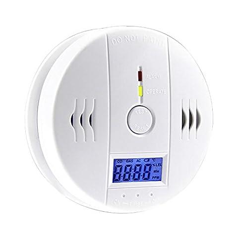 LinTimes Carbon Monoxide Toxic Gas Detector Digital LCD Display Household Warner