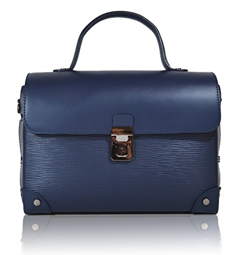 Millennium Star - Avril borsa da donna in vera pelle Made in italy Blu