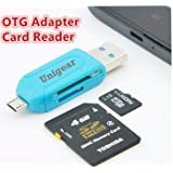 Unigear Multi Use 3 In 1 Micro USB OTG Smart TF Card Reader Adapter With 2.0 USB HUB 480mbps ( Multi Color )