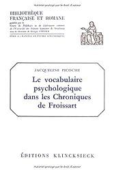 Le vocabulaire psychologique dans les