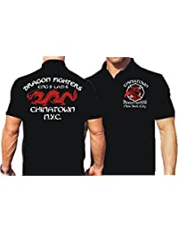 """'Polo Black, """"Dragon Fighters Chain atown Engine 9/laddder Pompiers 6–New York"""