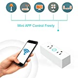QUARK Presa Smart WiFi, Presa Quadrata Presa Quadrata Presa WiFi Interruttore Timing Wireless Amazon Alexa Smart