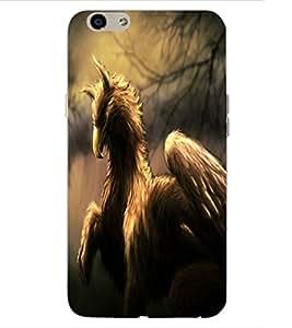 ColourCraft Fantasy Animal Design Back Case Cover for OPPO F1s
