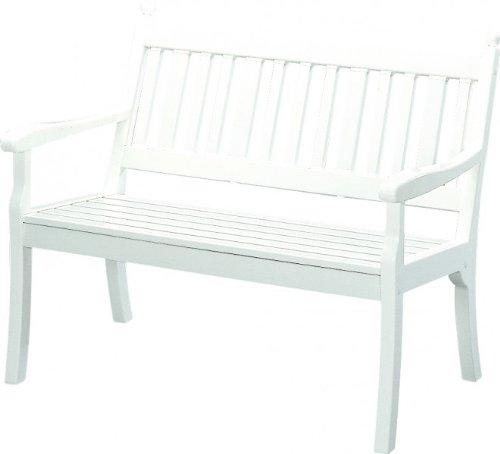 HOHENZOLLERN Landhausbank, 3-Sitzer, Kunststoff, weiß, 160 cm