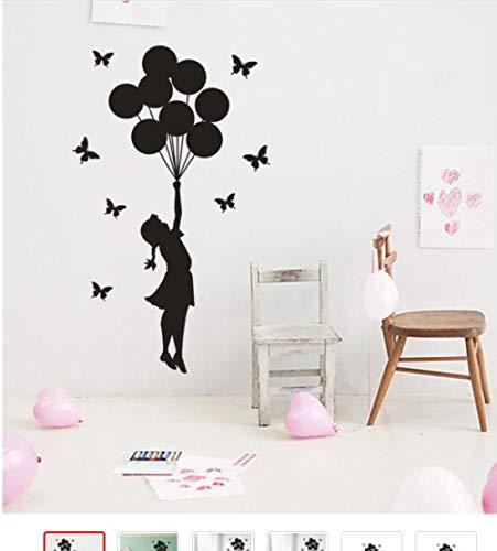 Der Ballon Mädchen Brief Wandaufkleber Für Kinderzimmer Mädchen Dekor Wohnzimmer Adesivos De Parede Pegatinas De Pared60 Cm X 35 Cm - Brief Ballon X