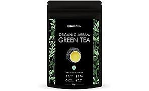 Tè verde biologico | Tè sfuso a foglie larghe dell'Himalaya | Ricco di antiossidanti, Perfetto per dimagrire, disintossicare e dimagrire (100g)