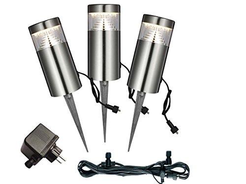 Lot de 3 LED lampe d'extérieur éclairage jardin Globo 34075–3
