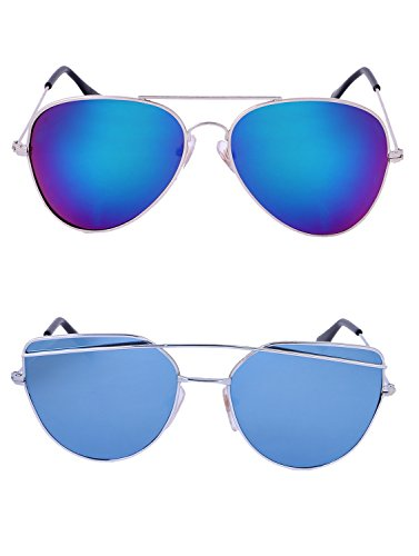 Amour-propre AmourPropre Multicolor UV Protected Unisex sunglasses Pack of 2_(AM_CMB_LP_3384)