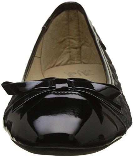Initiale Damen Success Ballerinas Noir (Noir/Leopard)