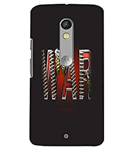 MOTOROLA MOTO X PLAY WAR Back Cover by PRINTSWAG