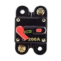 Mainstayae 200A Fuse Circuit Breaker Manual Reset Waterproof for Car Audio Marine