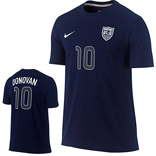 New Nike Herren LANDON DONOVAN # 10US Team Hero Fußball Shirt FIFA 659616–419Marineblau, unisex Jungen damen Herren, marineblau (Us-fußball-t-shirts)
