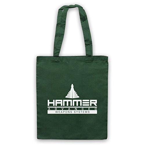 Inspiriert durch Iron Man 2 Hammer Advanced Weapons Systems Inoffiziell Umhangetaschen Dunkelgrun