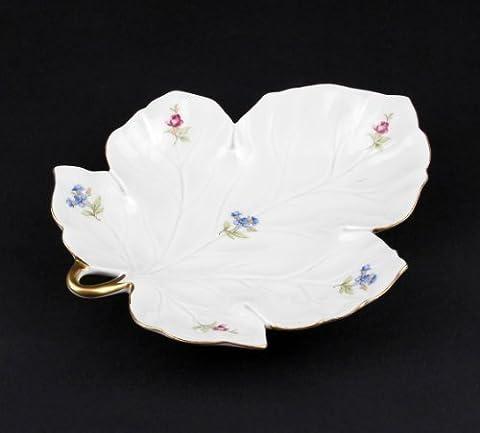 Large Porcelain Leaf-Shaped Bowl Colourful