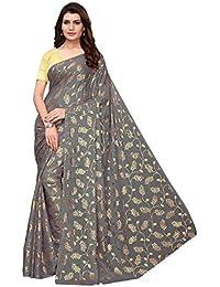6b5b2c800a women's foil print rangoli lehariya style with blouse piece  (Multi-Color_Free_Size)