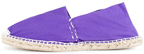 Sommerlatschen Espadrilles, Handmade, Lila, Unisex, SL1235 Violett (Lila)