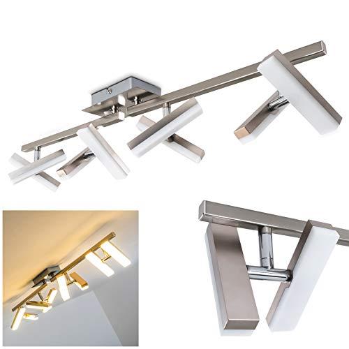 Deckenlampe Sakami mit LED-Lichtern - energiesparend - 8 verstellbaren Flammen aus Metall - Drehlampe für die Decke mit warmweißem Licht - moderne Designerleuchte für das Wohnzimmer -