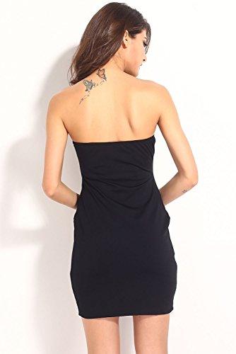 Dissa® femme Noir SY21079 mini robe Noir