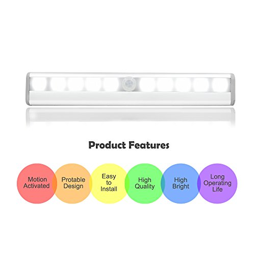 PIR Motion Activated LED, DLAND intelligente lampada di notte Stick-on