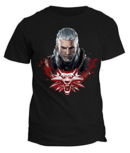 Tshirt The Witcher - Geralt di Rivia Lupo bianco - video games - in cotone by Fashwork