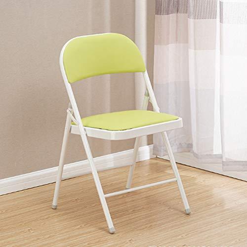 RRight! Gemütlich Klappstuhl mit gepolstertem gepolstertem Sitz und Rückenlehne, Metallrahmen Home Office Partyeinsatz,A