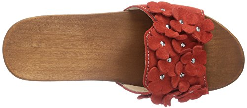 Woody Lilli, Chaussures de Claquettes femme Rouge - Rouge (Aurora)