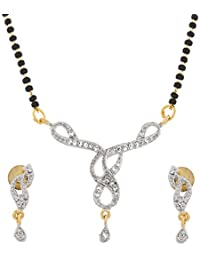 The Luxor Simple Gold Plated Australian Diamond Fashionable Mangalsutra For Women(MS-1316)