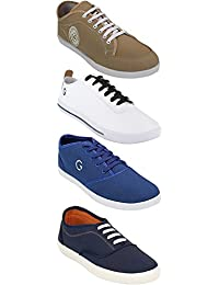 Globalite Shoe For Men Stylish Casual Combo Shoes For Boys (Combo Of 4 Shoes)