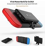 Banco de energía portátil 10000mAh Power Bank para Nintendo Switch Accesorios -Cargador de Baterías recargable extendido Funda -Paquete de batería de reserva de viaje compacto para Nintendo Switch