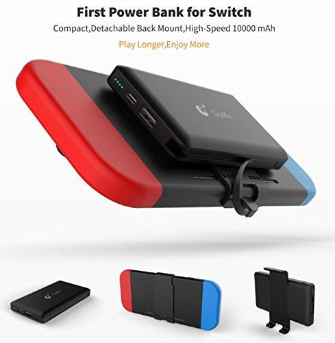 10000mAh Power Bank Portable Charger für Nintendo Switch Zubehör - wiederaufladbare erweiterte Ladegerät Case - kompakte Reise Backup-Akku für Nintendo Switch von Express Panda® -