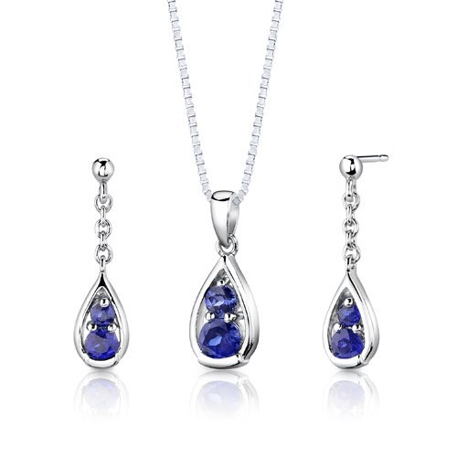 Royal Blau Formale Kleider (Peora Damen-Royal Splendor 3,00Karat Schweizer Blau Topas Ring in Sterling Silber Rhodium Nickel Finish Größe 9)
