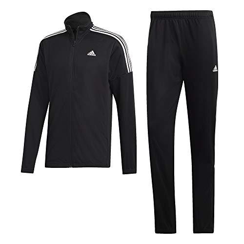 adidas Herren MTS Team Sports Tracksuit, Black/White, L