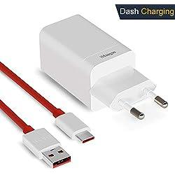 OnePlus 6T Chargeur, iMangoo Dash Alimentation [5V 4A] + 1 m/3.3 ft OnePlus Dash Câble de Chargement USB C Chargeurs Vérificateurs Câble de données pour OnePlus 6T 6 5T 5 3T 3