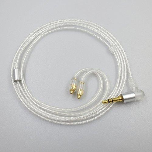 Ersatz Kabel bolion 5N VERSILBERT Kabel MMCX-Upgrade Kabel für abnehmbare Kabel Shure SE215, SE315, SE425, SE535, SE846und UE900Kopfhörer (Ue900-kabel)