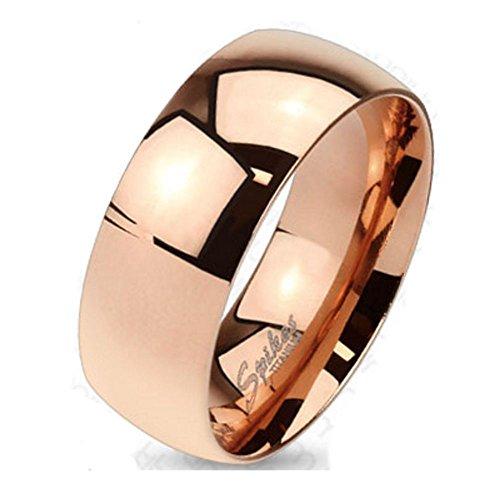 Bungsa 64 (20.4) Titan Ring Rosegold Damen - Ring aus rosé-goldenem Titan für Damen & Herren - roséfarbener Damenring/Herrenring - SCHMUCKRING für Frauen & Männer roségold Titanium