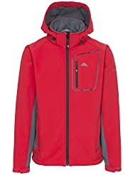 Trespass hombre TP75Strathy II Softshell chaqueta, hombre, color rojo, tamaño XS
