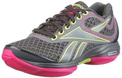 Reebok Easytone + 150304, Damen Sportschuhe - Fitness, Grau (gravel/sonic green/o.pink/r.grey 9), EU 42.5 (UK 8.5)