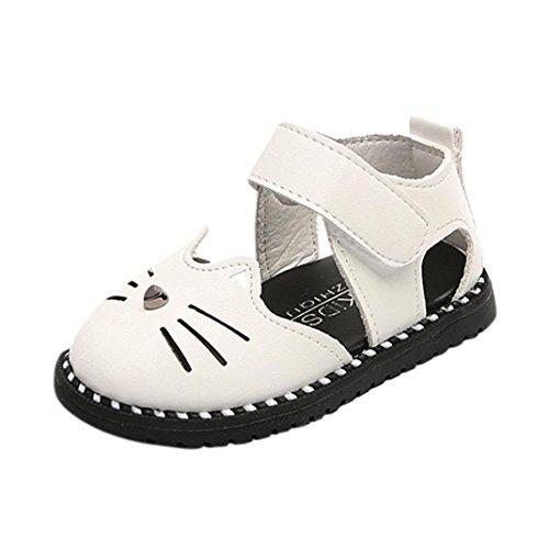 Hot Sale !!Ballerine,Scarpe per bambine e ragazze Gatto Sandali orecchie di coniglio Toddler Principessa Casual singolo pu Scarpe-Scarpette Neonato -Casuale Scarpe Bambina Shoes (Bianca, EU:21)