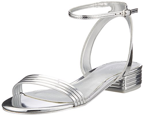 ALDO Damen Izzie Peeptoe Sandalen, Silber (Silver), 40 EU