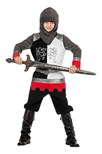 Jannes - Ritter Kostüm Jungen, Schwarz Weiß mit -
